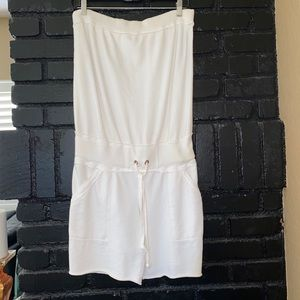 New white terry cloth short romper